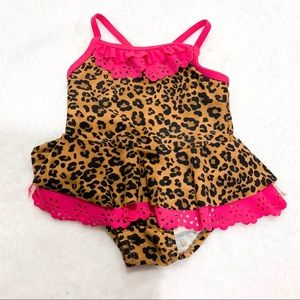 Baby Leopard Print One Piece Swimsuit 3-6 Months